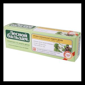 Зубная паста КАЛИНА Лесной бальзам защита десен молодые листья черной смородины, экстракт цветков липы, отвар целебных трав фото