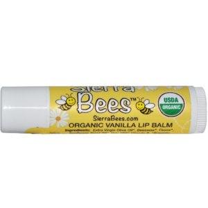 Бальзам для губ Sierra Bees Organic Vanilla Beeswax Lip Balm with Vitamin E фото