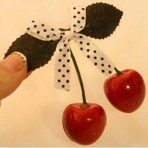 Заколка для волос Aliexpress Accessories cherry bow side-knotted clip duckbill clip hair clip фото