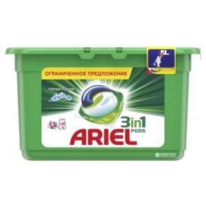 Капсулы для стирки Ariel Pods 3 in1 Горный родник фото