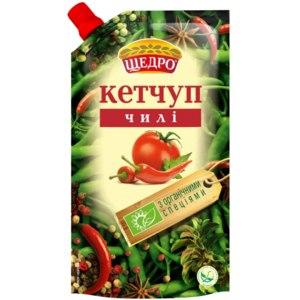Кетчуп Щедро Чили с органическими специями фото