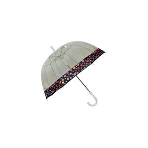 "Зонт-трость Storm Duds Прозрачный Style 5100P 32"" CLEAR VIEW BUBBLE DOME UMBRELLA with PRINTED EDGE фото"