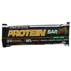 Протеиновый батончик IRONMAN Protein Bar с коллагеном, вкус «хрустящая кукуруза» фото