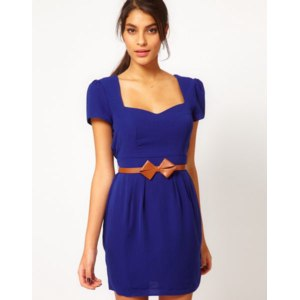 Платье ASOS Tulip Dress With Sweetheart Neck And Bow Belt фото