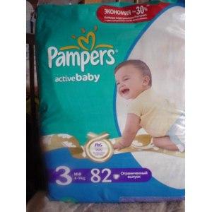 """Подгузники Pampers active baby """"Наши маленькие чемпионы"""" фото"""