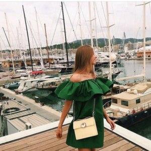 Платье AliExpress summer dress 2015 new arrival ruffle dress plus size Sleeve Off Shoulder Cotton Material Above Knee Blue women dresses vestidos фото