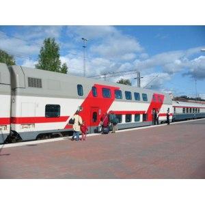 Поезд двухэтажный Северная Пальмира 035С - 035А Санкт-Петербург - Адлер фото