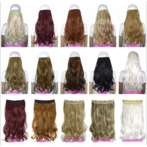 "Волосы на заколках Aliexpress 24"" (60cm) 120g body wave 5 clips on hair extension clip in hair extensions 50 colors available фото"