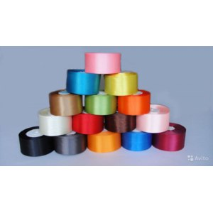 "Aliexpress Атласные ленты free shipping 2""(50mm) single face satin ribbon,25yards/roll .polyester ribbon more colors фото"