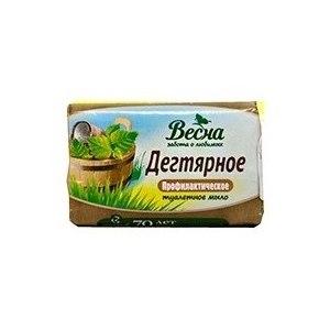 """Мыло профилактическое Весна """"Дегтярное"""" фото"""