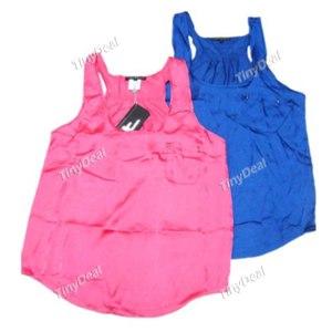 Майка Tinydeal Fashionable Female Vest Underwaist Sleeveless Garment Top with Round Neck for Women Ladies NDD-78767 фото