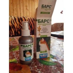 Противопаразитарные средства АВЗ Барс инсектоакарицидный спрей для кошек фото