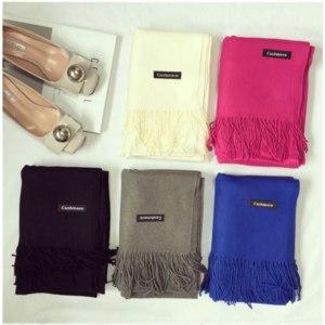 Шарф AliExpress 2018 brand women scarf fashion soild autumn winter cashmere scarves lady warmer pashmina long shawl wraps bandana foulard female фото