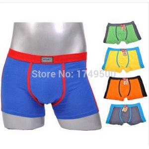 Трусы-боксеры Aliexpress Male boxer Cotton Hot Sale man underwear panties male trunk Men's Clothing Underwear Sports men shorts фото