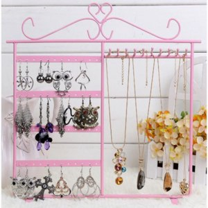 Подставка под украшения Aliexpress Portable 48 Holes Display Rack Metal Stand Holder Closet Jewelry Earrings Organizers Showcase Packaging & Display Wholesale фото