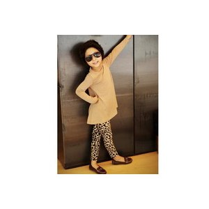 Леггинсы AliExpress Price from the manufacturer! cute kids girl leopard print stretch leggings children full length trousers 1-6 years фото