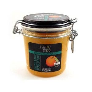 """Скраб для тела ORGANIC SHOP детокс-экспресс """"Сахарный мандарин""""  фото"""