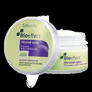 """Крем для лица ночной Faberlic """"Питание и восстановление"""" для всех типов кожи серии Bioeffect фото"""