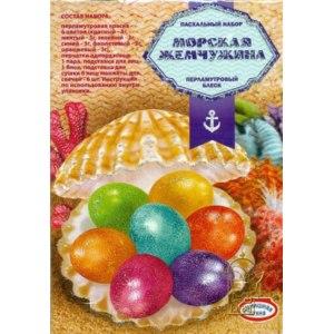 Пасхальный набор Домашняя кухня Морская жемчужина перламутровый блеск фото