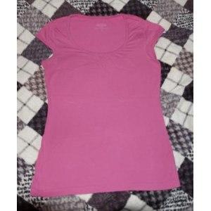 Молодёжная одежда MODIS футболка женская розовая фото