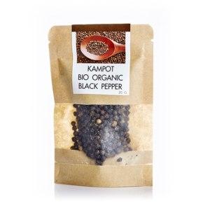 Кампотский черный перец из Камбоджи Siamarket  Kampot Bio Organic black pepper 25gr фото