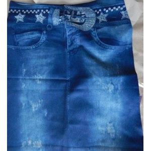 Юбка AliExpress Owlprincess Hot Fashion Lady Elastic Bag Printed Imitation Jeans Denim Skirt Slim Short Mini Pencil Skirt Sexy фото
