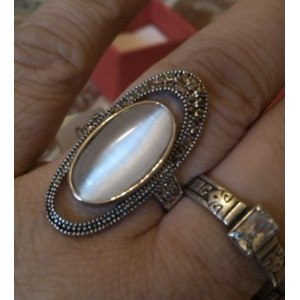 Кольцо Aliexpress Hot Selling Ajojewel Brand Fashion Accessories Ancient Way Retro Vintage Black CZ White Opal Jewelry Rings For Women фото