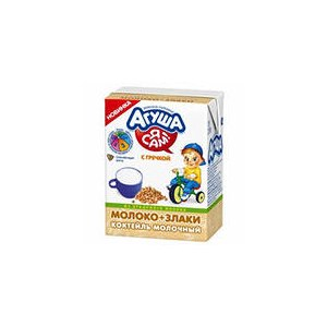 Детское питание Агуша молоко + злаки (с гречкой) фото