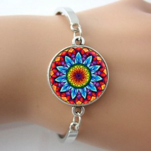 Браслет Aliexpress Mandala Bracelet,Mandala Bangle,Green Mandala Jewelry,YOGA Bracelet From Indian For Women Care Your Health Gifts for GL70 фото