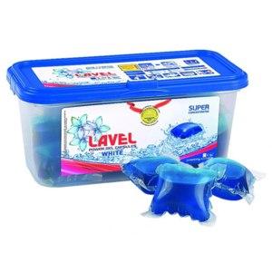 Капсулы для стирки белого белья Lavel Power gel capsules фото