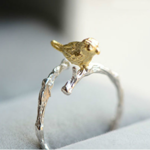 Кольцо Aliexpress New Arrivals Fashion 925 Sterling Silver Rings Bird Finger Ring For Girl Women Gift Jewelry фото