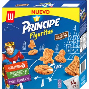 Печенье LU PRINCIPE Figuritas  с кусочками шоколада фото