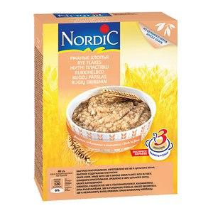 Каши быстрого приготовления Nordic Ржаные хлопья фото