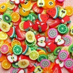 Фимо Aliexpress 12 Colors 3D Mixed Clay Fruit Designs Nail Art Tips Wheel Decoration Free Shipping 410 фото