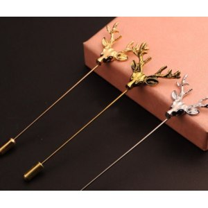 Брошь Aliexpress 2018 Hot Animal Xmas Deer Antlers Head Brooches Pin for Women Men Gold Silver Color Lapel Pin Boutonniere Suit Jewelry Gift 4.8 фото