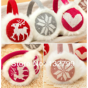 Меховые наушники Aliexpress Fashion Women Girl Snowflake Deer Love Ear Muffs Knit Plush Warm Earmuffs Winter Warmer фото