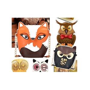 Сумка женская Aliexpress Rebecca's Secret Fox Owl PU Leather bag girl lady Women Messenger Bags Woman Shoulder Handbag Cross Body фото