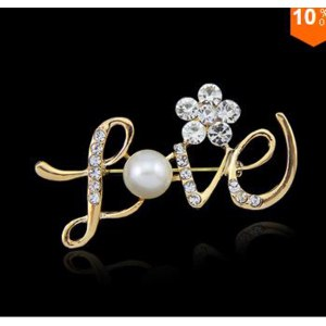 Брошь Aliexpress 2015 hot lovely gift wedding flower pearl brooch Clothes pins accessories фото