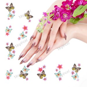 Наклейки для ногтей Tinydeal Butterfly Style Nail Art Stickers Decals DIY Care for Finger and Toe Nails HCI-83343 фото