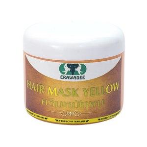 Маска для восстановления и стимуляции роста волос Erawadee HAIR YELLOW MASK Желтая Яичная с папайей и биотином фото