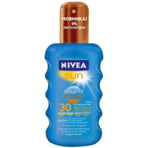 Солнцезащитный крем NIVEA Спрей Защита и Загар SPF30 фото