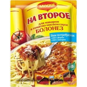 Приправа Maggi МАГГИ НА ВТОРОЕ для макарон в томатно-мясном соусе Болонез фото