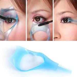 Апликатор для ресниц Aliexpress New-3-in1-Mascara-Applicator-Guide-Guard-Eyelash-Comb-Cosmetic-Brush-Curler фото