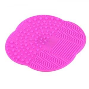 Моющее средство для кистей и спонжей Aliexpress 1 PC Multicolor Silicone Makeup Brush Cleaner Washing Scrubber Board Cosmetic Cleaning Mat Pad Tools фото