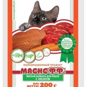 Корм для кошек Мяснофф Колбаса мясная с лососем фото