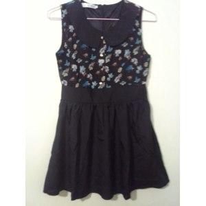 Платье AliExpress Women's summer chiffon print peter pan collar sleeveless one-piece casual dress фото