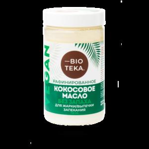 Кокосовое масло BIOTEKA без запаха для жарки/выпечки запекания фото