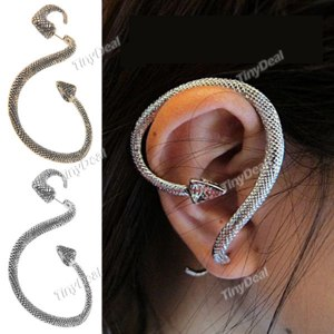 Серьги Tinydeal Серьга - кафф Змея Stylish Snake Shaped Earring Ear Nail Eardrop Ear Drop Earbob for Lady Women WNL-99703  фото