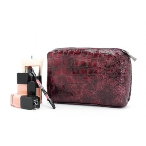 Косметичка Aliexpress   2013 New lady's fashion purple stone pattern patent leather cosmetic bag/storage bag clutch Pouch B142  фото