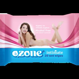 Влажные салфетки для интимной гигиены OZONE intimate фото
